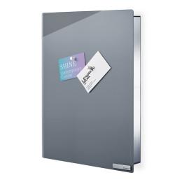 Skříňka na klíče VELIO šedá 30 x 40 cm