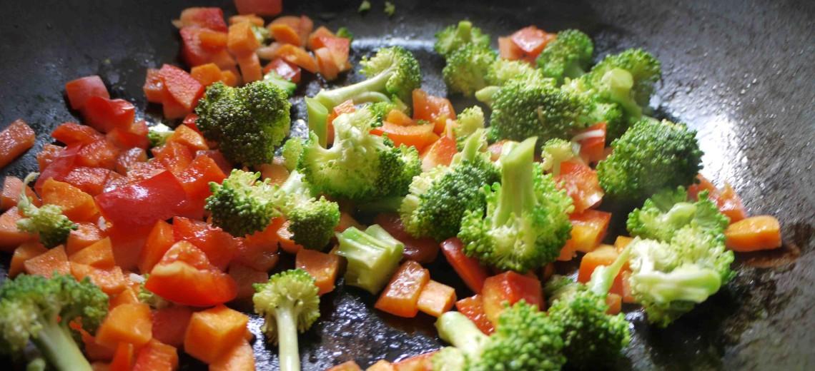 Barevná wok zelenina s chilli – recept zdarma