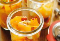 Pomerančové chutney se zázvorem a Bhut Jolokia