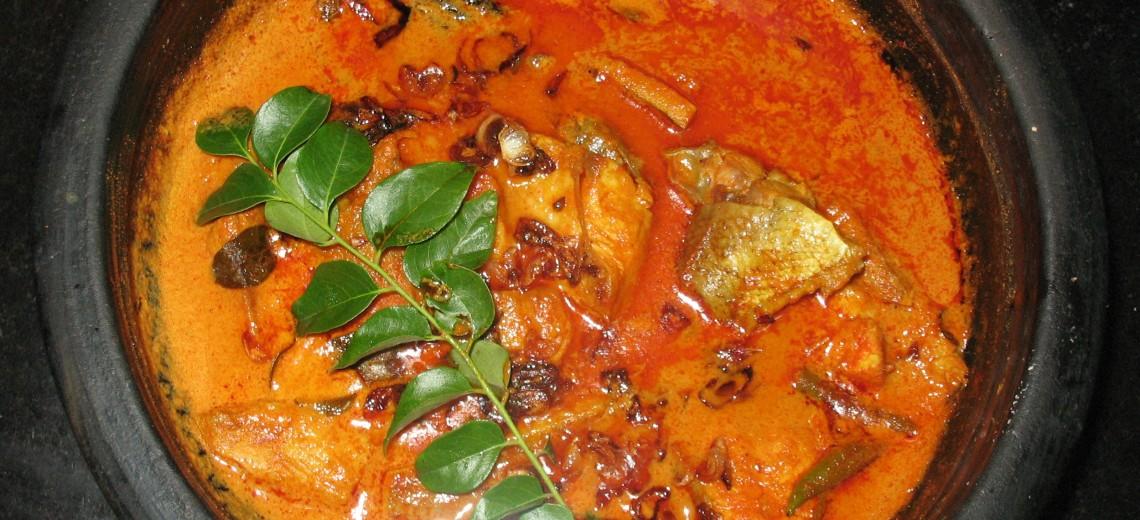 Rybí curry s Bhut Jolokia