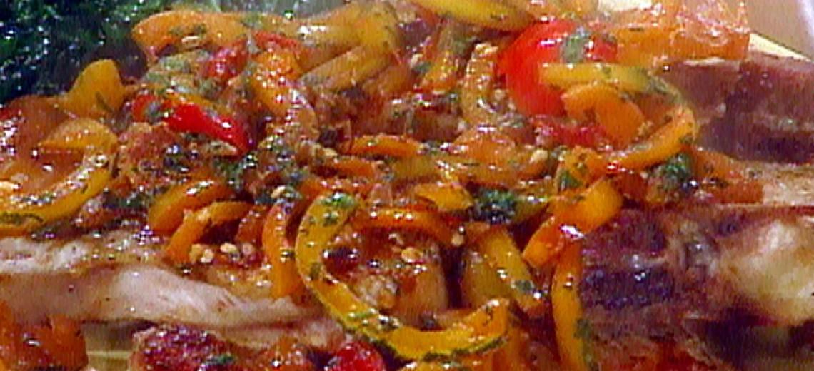 Vepřové nudličky s paprikami dvojí chuti