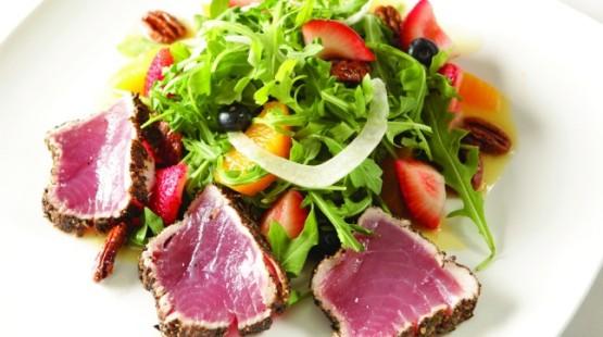 Tuňákový steak s chilli omáčkou