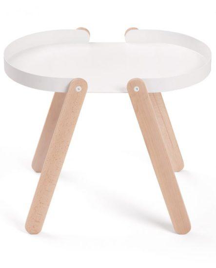 Odkládací stolek bílý TEPSI