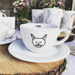 Šálek na cappuccino s kočkou 200 ml