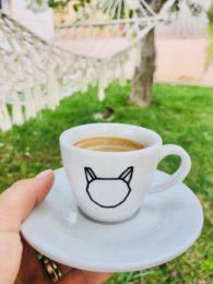Šálek espresso s kočkou 80 ml